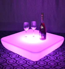 outdoor battery colors change Fashion Square LED Bar Table
