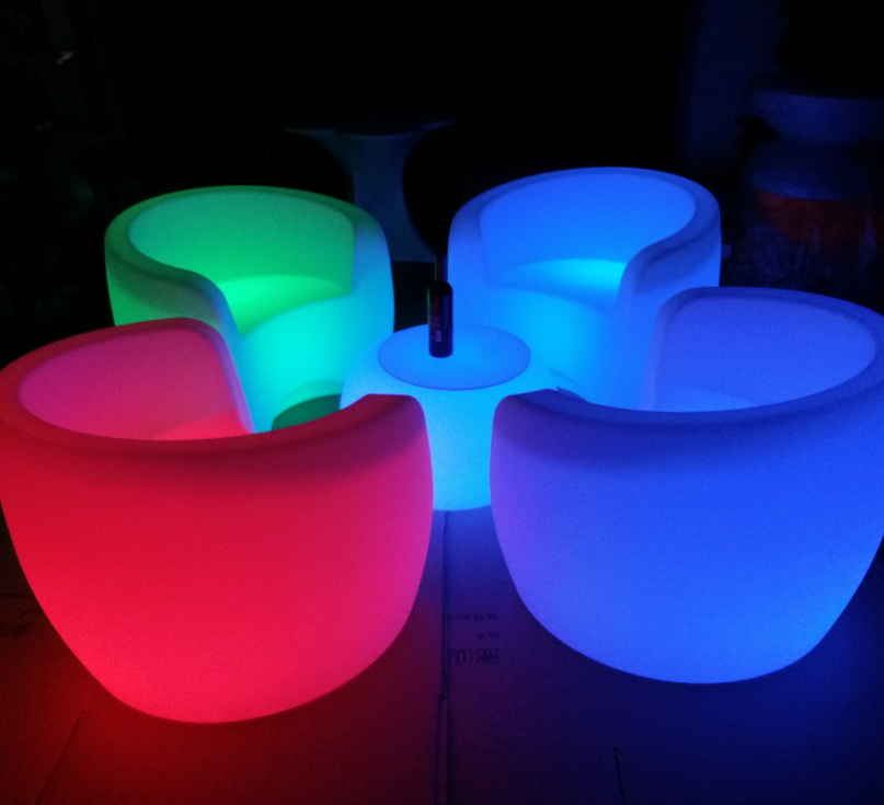 outdoor led coffee shop lighting chairs with remote controller