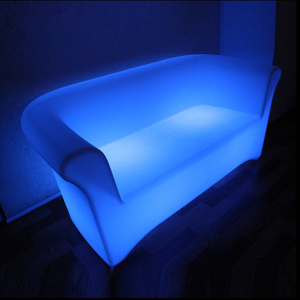 outdoor PE Plastic LED Sofa for Bar Setup