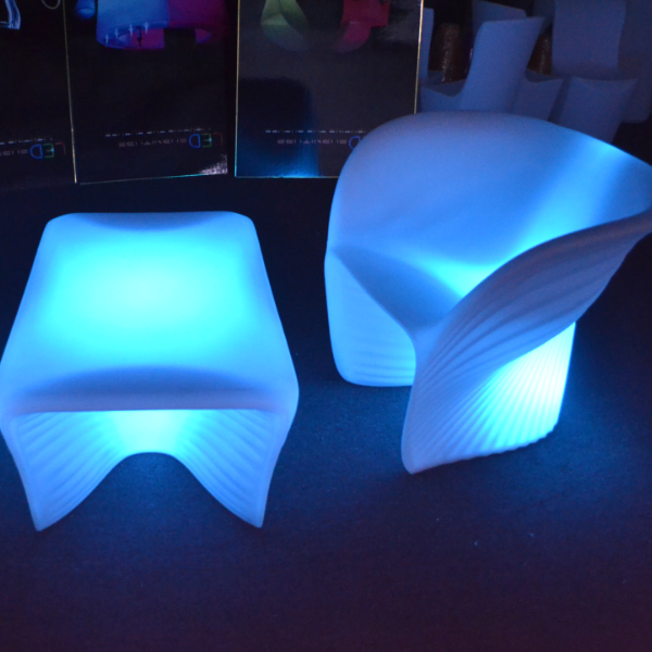 color change outdoor Lighted LED Shell Chair