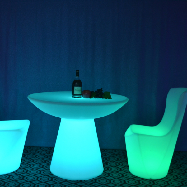 Light up restaurant dinning table coffee table
