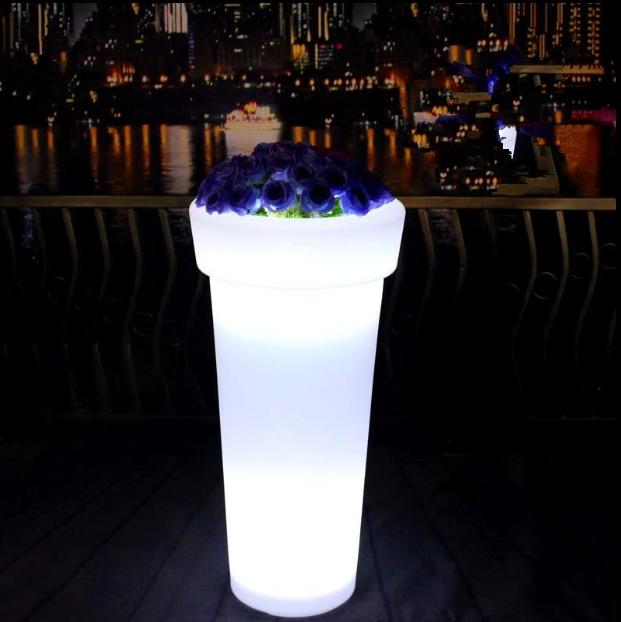 Waterproof plastic flower pot for wedding decoration