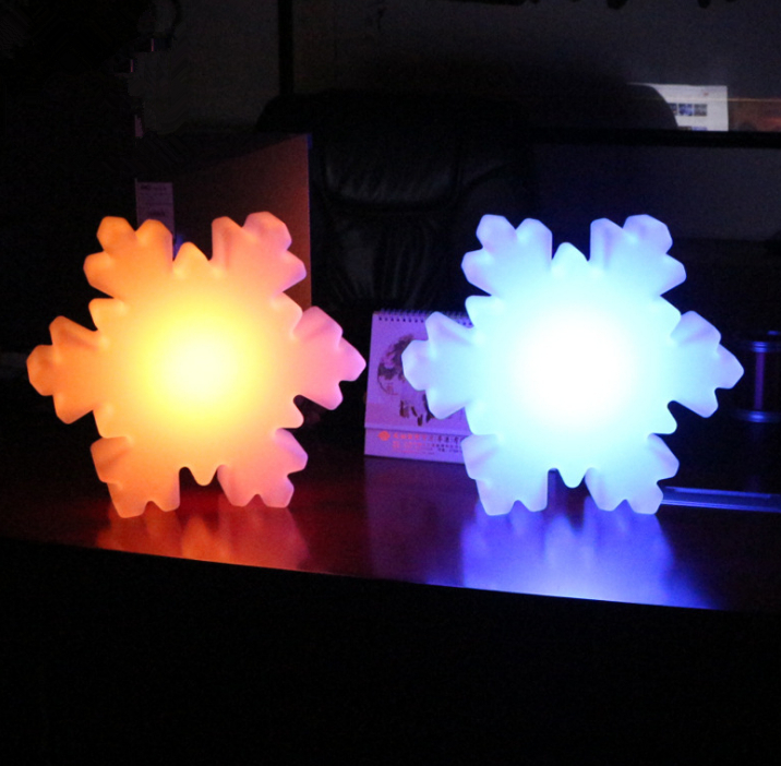 remote control PE RGBW LED Snowflake Light