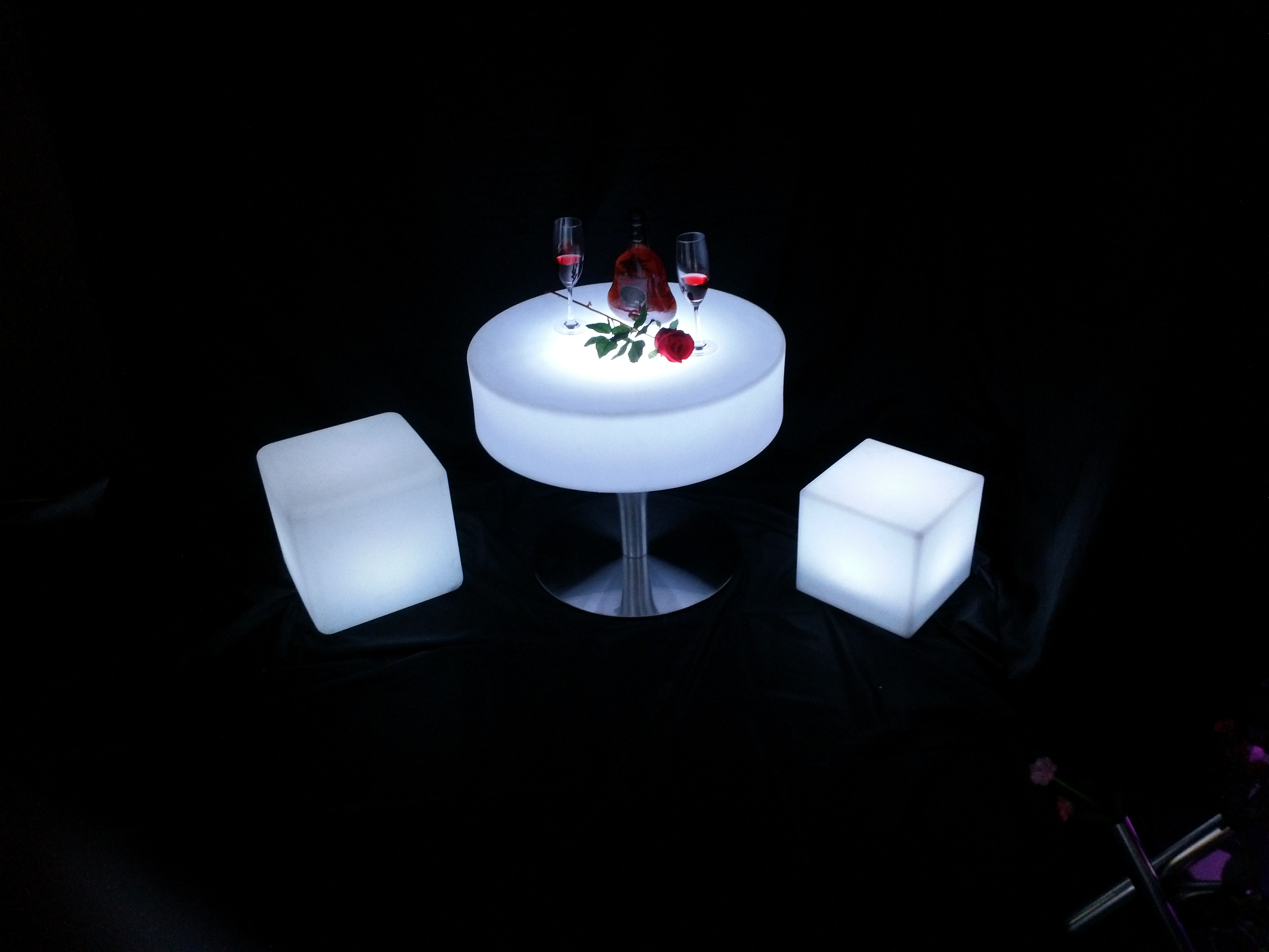 battery colors change LED Coffee Bar Table