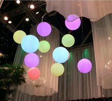 colors change rechargeable PE hang led ball
