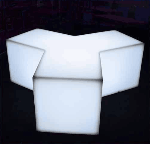 outdoor rechargeable Y-shape Comfortable LED Stool