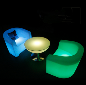 outdoor 16 Color Change LED Sofa Bar Setup