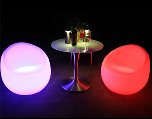 outdoor color change Bar Setup LED Single Chair