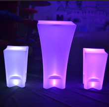 outdoor battery Color Change LED Poseur table