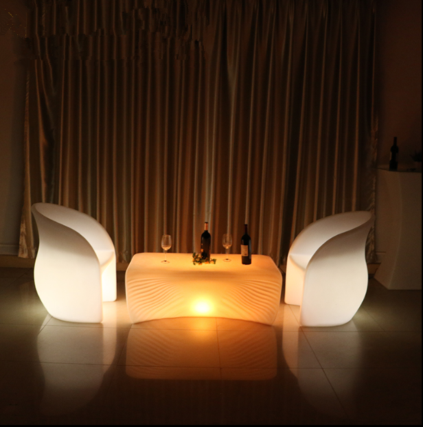 Remote Control Rechargeable LED Shell Table
