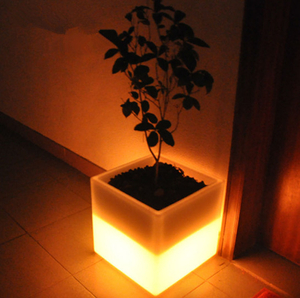 Plastic Square LED Flower Pot