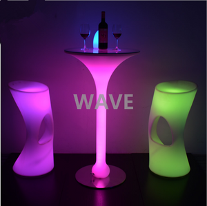 16 colors changeable led cocktail tables and chairs set