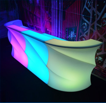 Wave-shape Lounge LED Illuminated Bar Counter