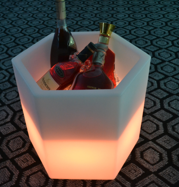 Waterproof Champagne LED Ice Bucket